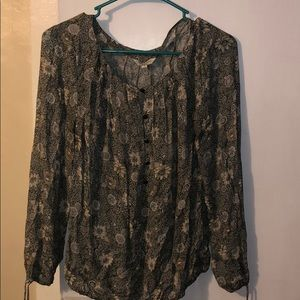 Lucky Brand long sleeved floral top